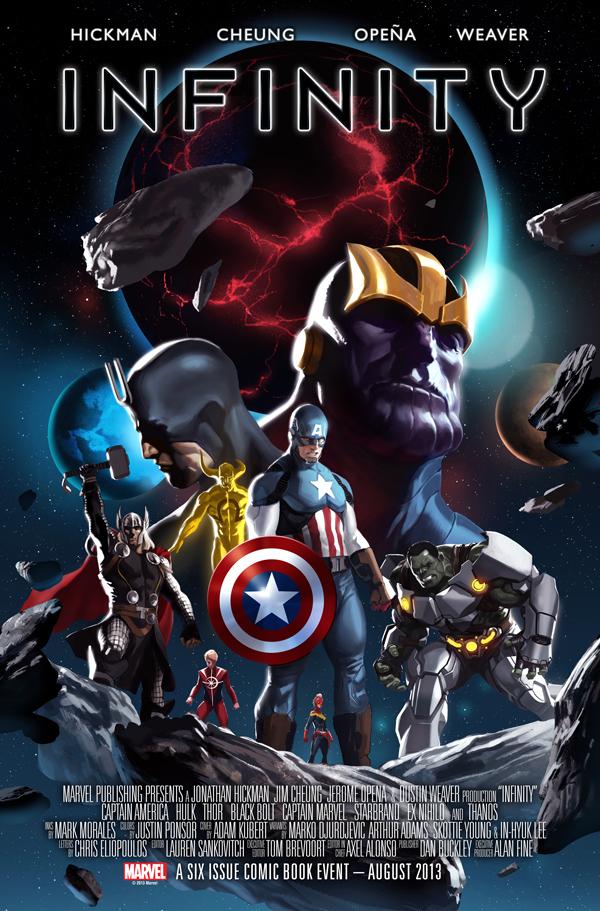 Marvel Comic's Infinity #1 Variant Cover by Marko Djurdjevic