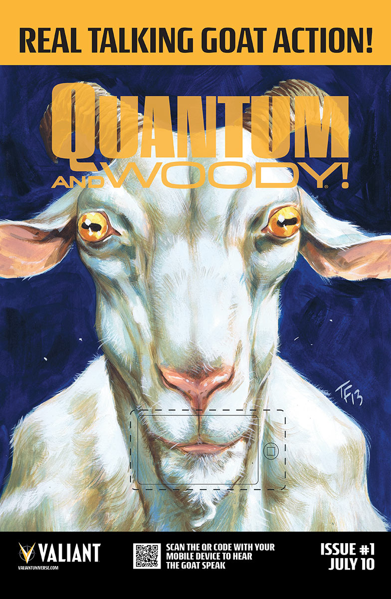 Valiant's Quantum and Woody #1 to have talking goat variant…no, really
