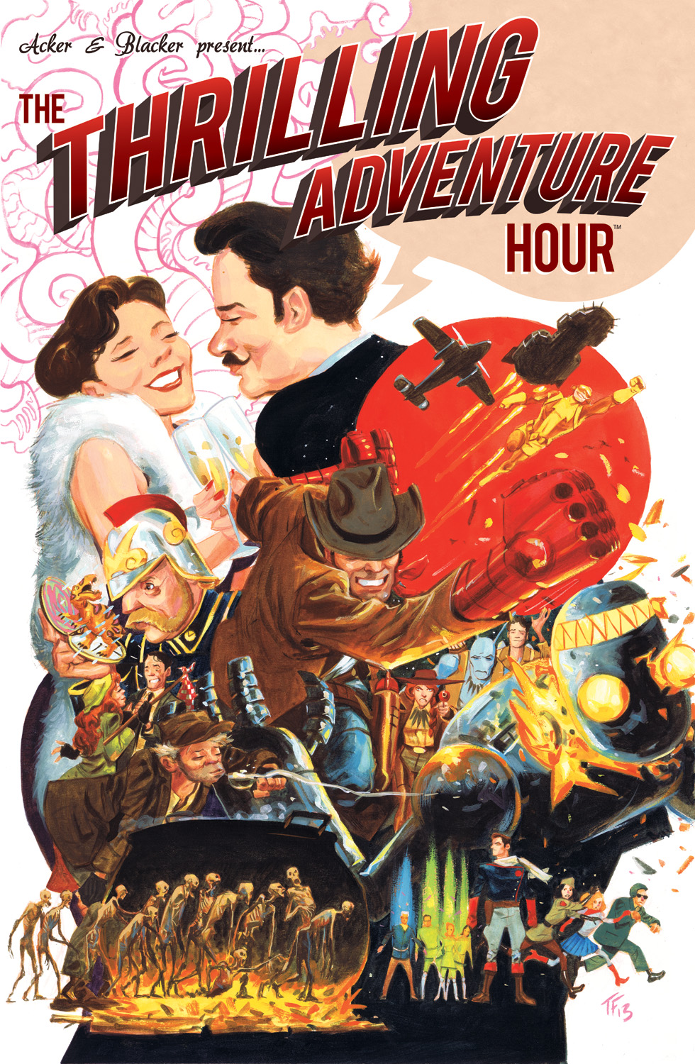 'The Thrilling Adventure Hour' Art Exhibit Opens at the Cartoon Art Museum in San Francisco
