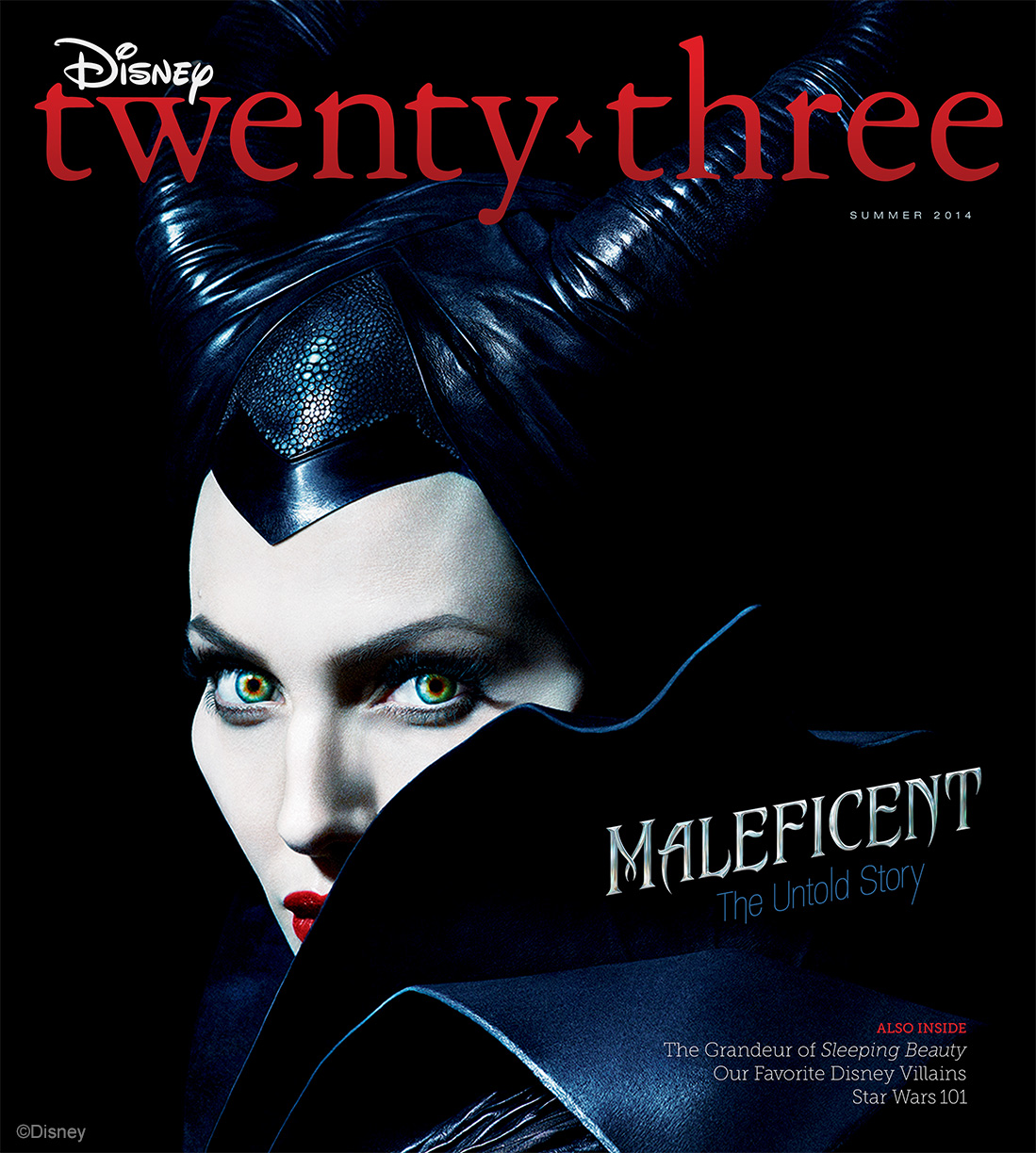 Angelina Jolie Casts a Spell As Maleficent On the Cover Of The Summer 2014 Issue of Disney Twenty-Three