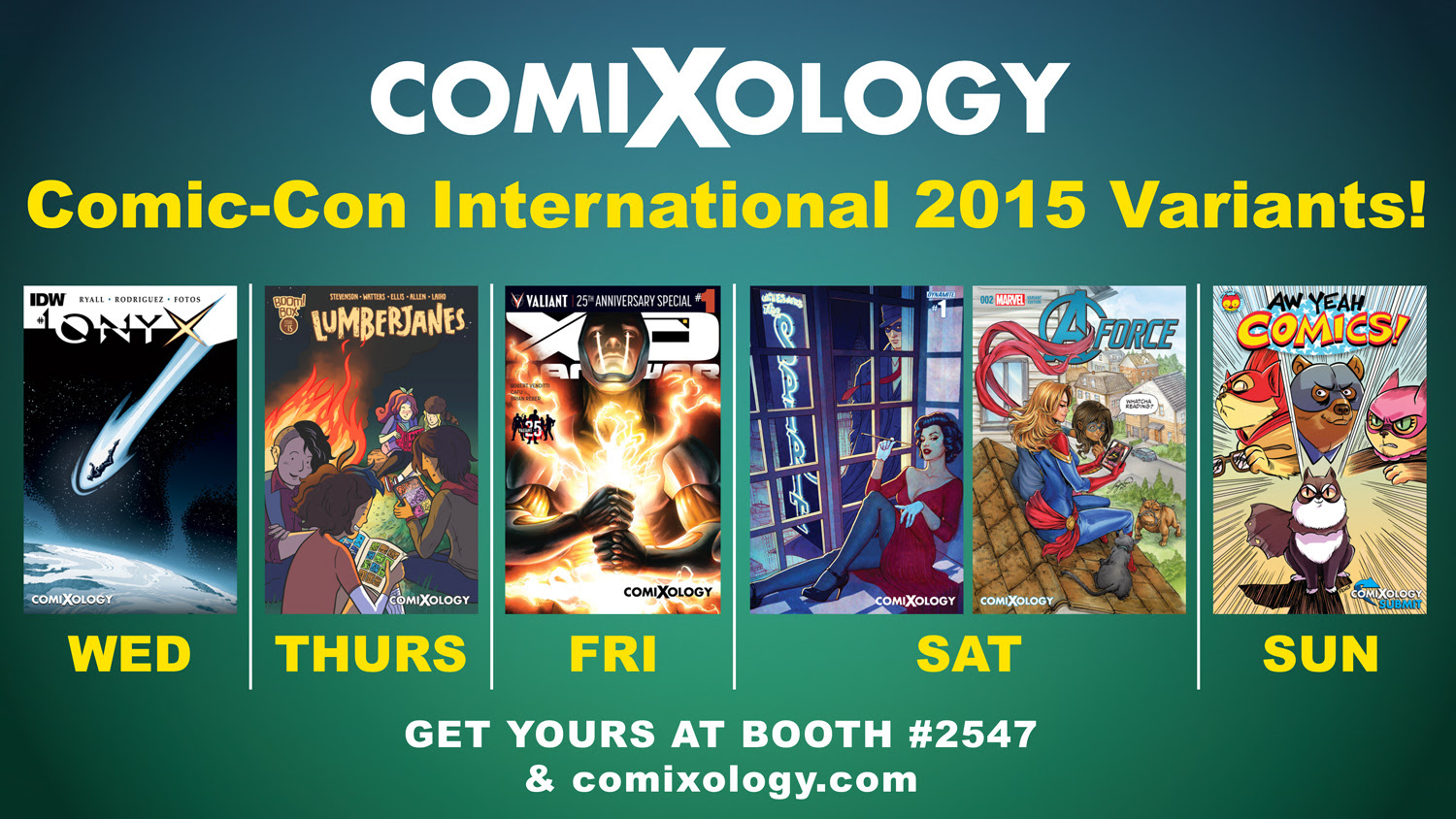 ComiXology Reveals Full Schedule and Exclusives at Comic Con International 2015