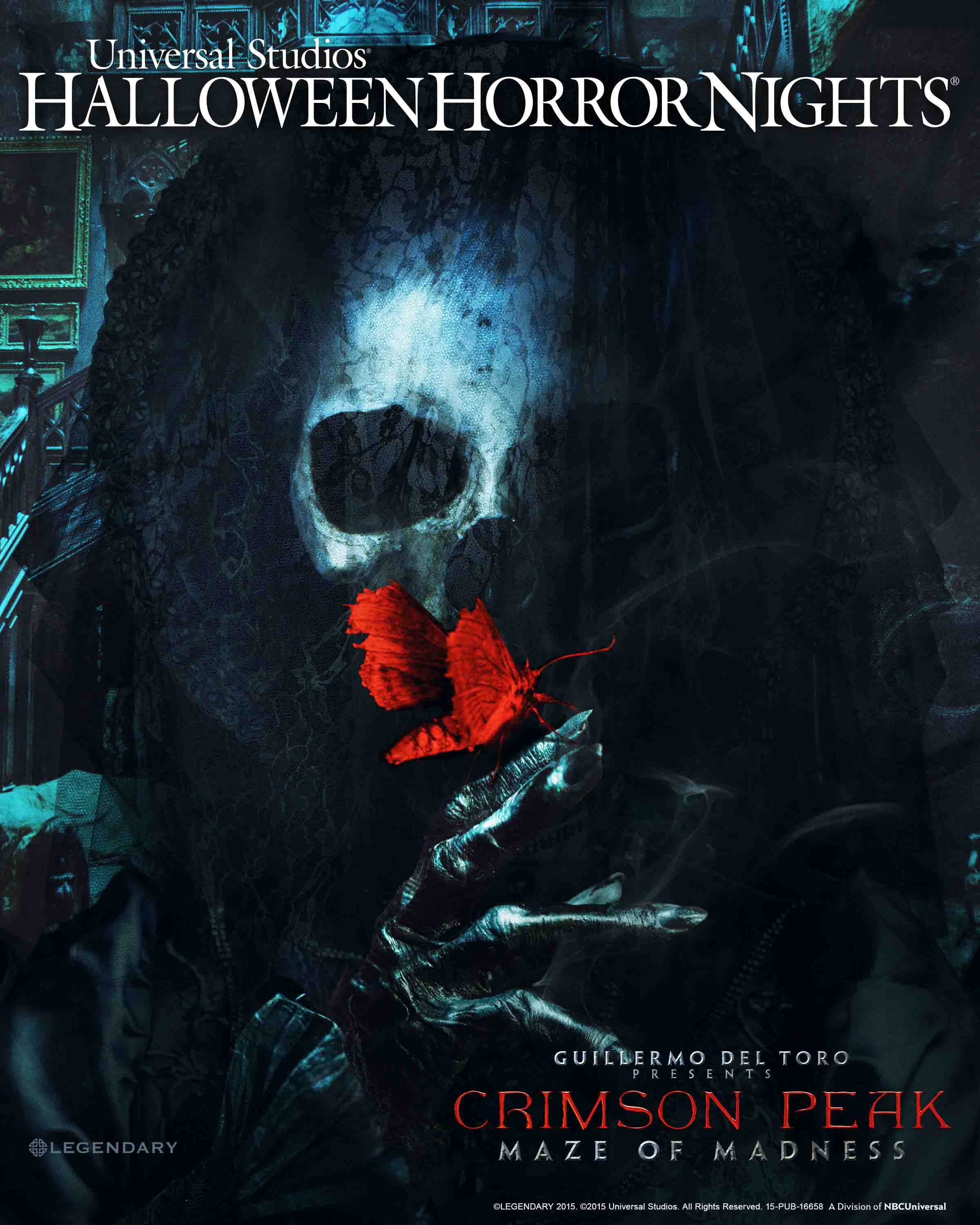"SDCC 2015: Universal Studios Hollywood Brings the Terror of Crimson Peak, from Visionary Director Guillermo del Toro, to Life in an All-Original ""Halloween Horror Nights"" Maze Inspired by Legendary and Universal Pictures' Highly-Anticipated Gothic Romance"