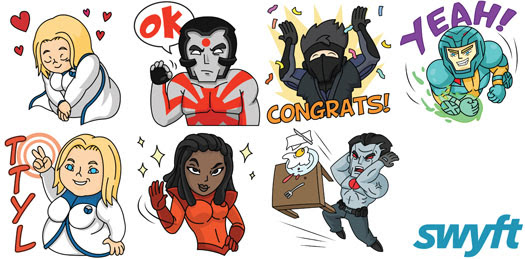 Valiant and Swyft Media Announce Valiant Heroes Emoji Digital Stickers – Available Now in the iOS App Store and Google Play