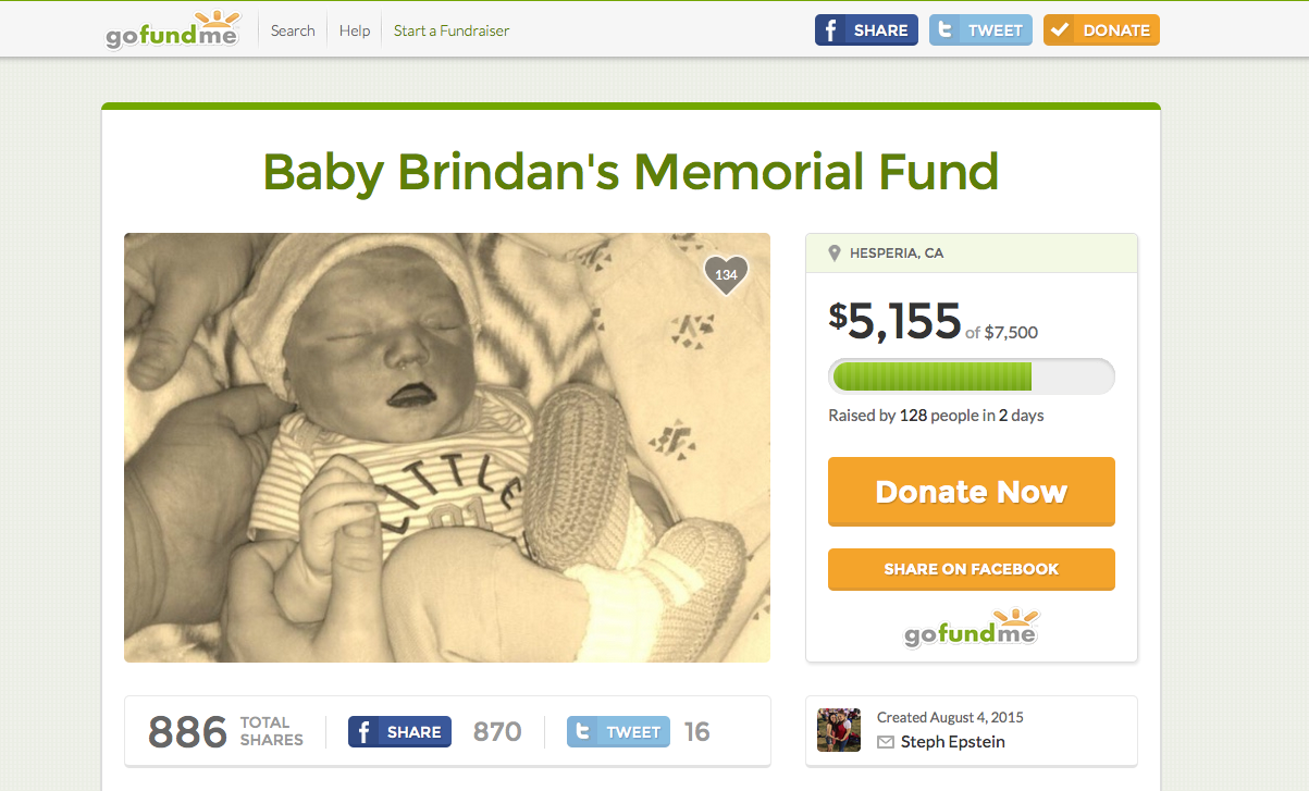 Reaching Out: Baby Brindan's Memorial Fund