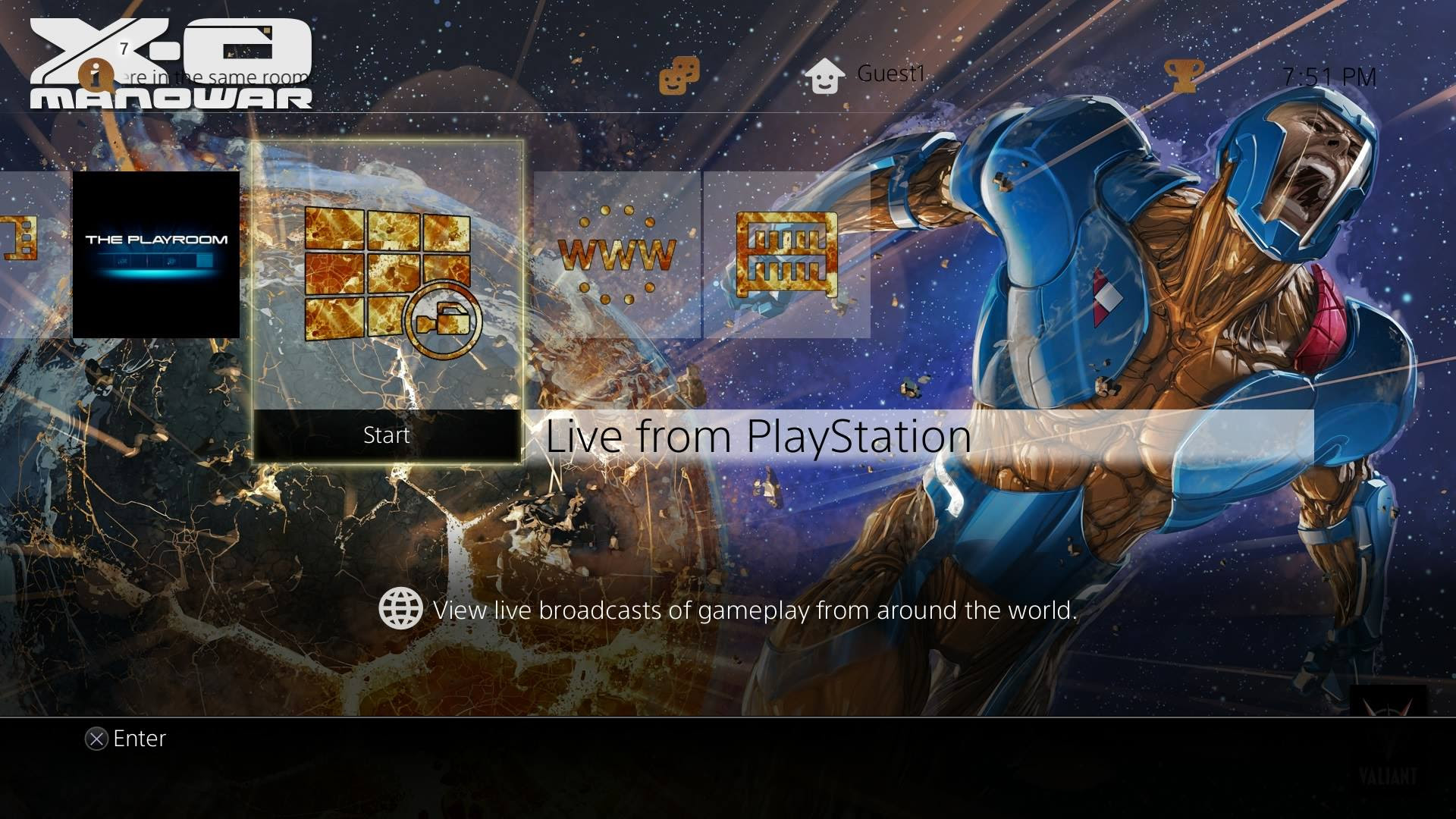 The Powell Group Creates Sony PlayStation 4 Themes for Valiant Entertainment's X-O Manowar, Bloodshot, Harbinger and More!