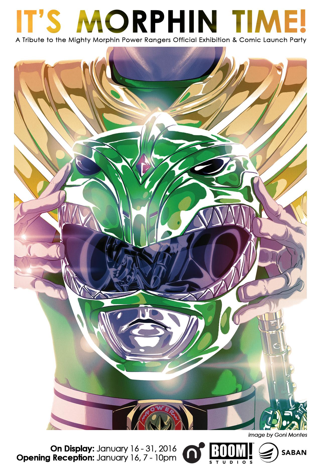 Saban Brands and Nucleus Debut 'Power Rangers' Exhibit to Celebrate New BOOM! Studios Comic