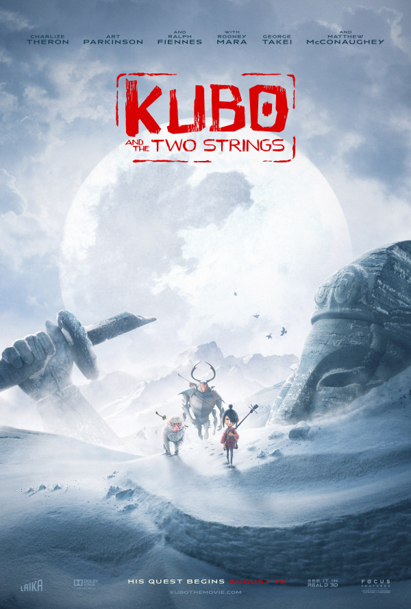 New Trailer and Posters for Kubo and the Two Strings