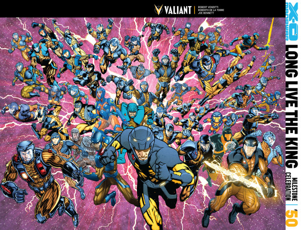 Valiant Reveals Record-Setting Jam Cover for X-O Manowar #50 – Coming in September