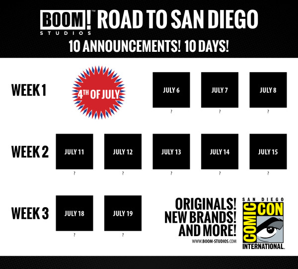 BOOM! Studios 2016 Road to San Diego Kicks Off