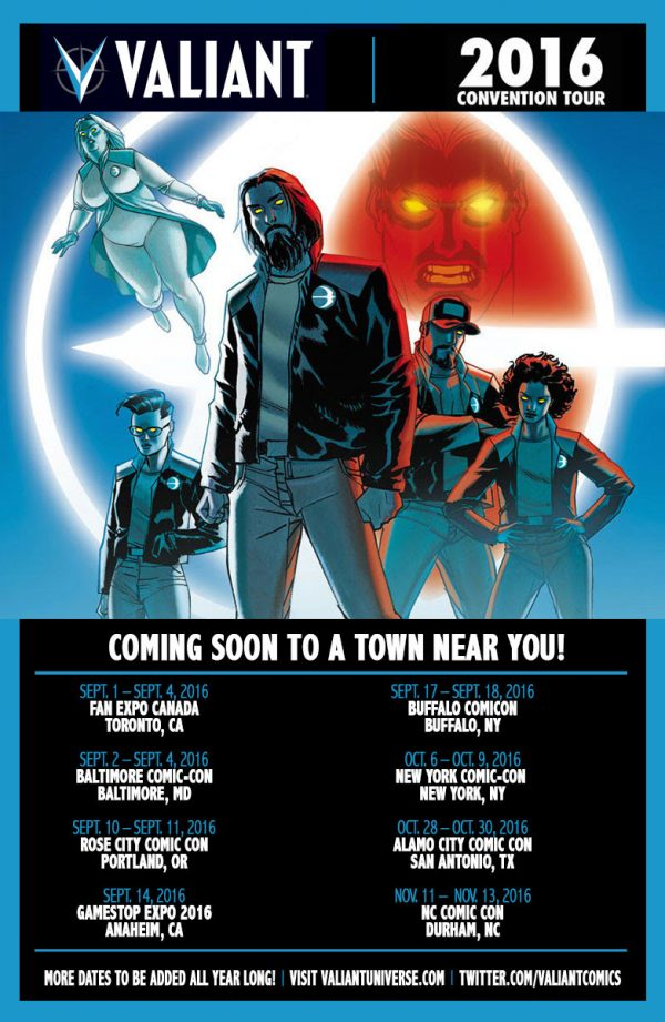 Valiant Debuts at GameStop Expo 2016 with Collections, Merchandise, and More!