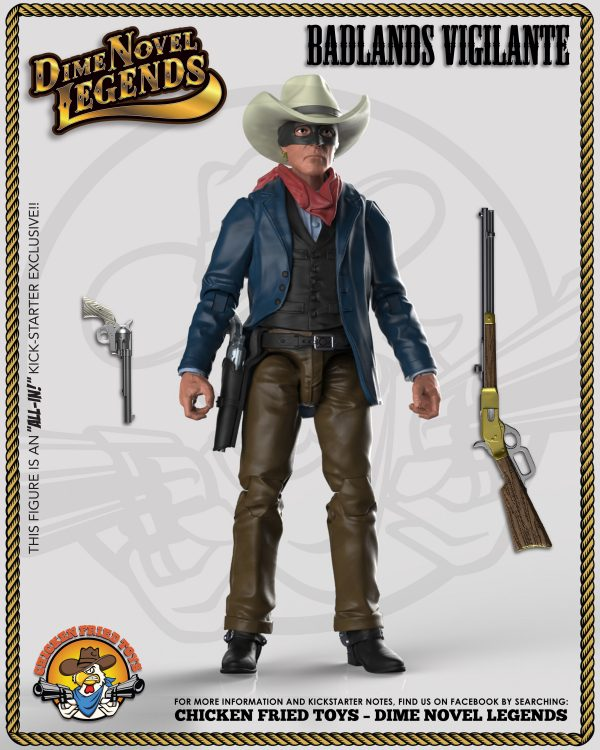 Let's Kickstart This! Chicken Fried Toys Dime Novel Legends 1:18th Scale Western Themed Action Figures