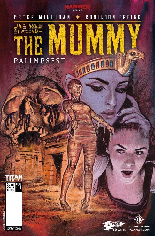 Titan Comics and Hammer Horrror Reveal Variant Cover for The Mummy #1 and More