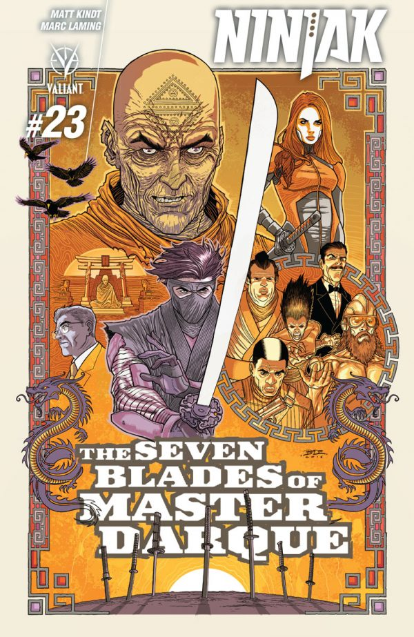 """First Look: Matt Kindt and Marc Laming Sharpen """"THE SEVEN BLADES OF MASTER DARQUE"""" – Coming to NINJAK #23 this January"""