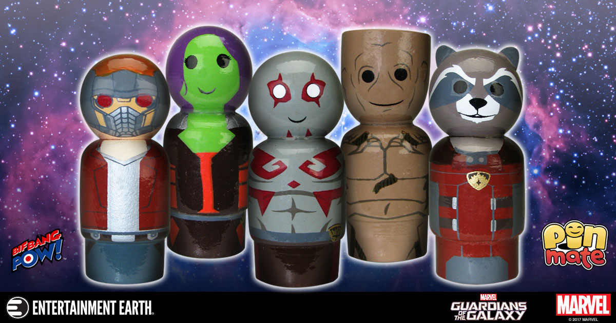 Toy Fair 2017 Debut: New Guardians of the Galaxy Pin Mate Figures Unite for Galactic Safety