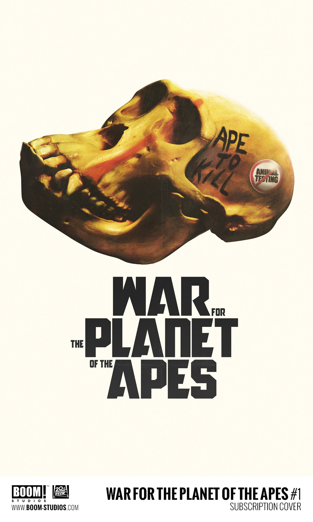 Boom! Studios and Twentieth Century Fox Announce War for the Planet of the Apes Comic Book Series