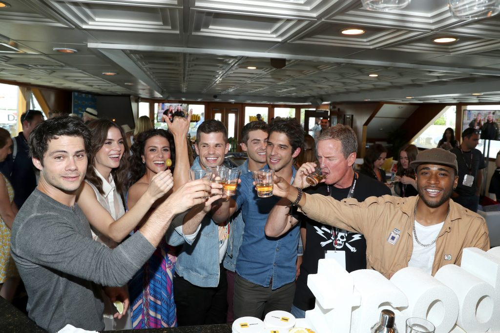 SAN DIEGO, CA - JULY 20:  (L-R) Actors Dylan O'Brien, Shelly Hennig, Melissa Ponzio, Charlie Carver, Cody Christian, Tyler Posey, Linden Ashby and Khylin Rhambo at the #IMDboat At San Diego Comic-Con 2017 at The IMDb Yacht on July 20, 2017 in San Diego, California.  Photo by Rich Polk/Getty Images for IMDb)  (Photo by Rich Polk/Getty Images for IMDb)