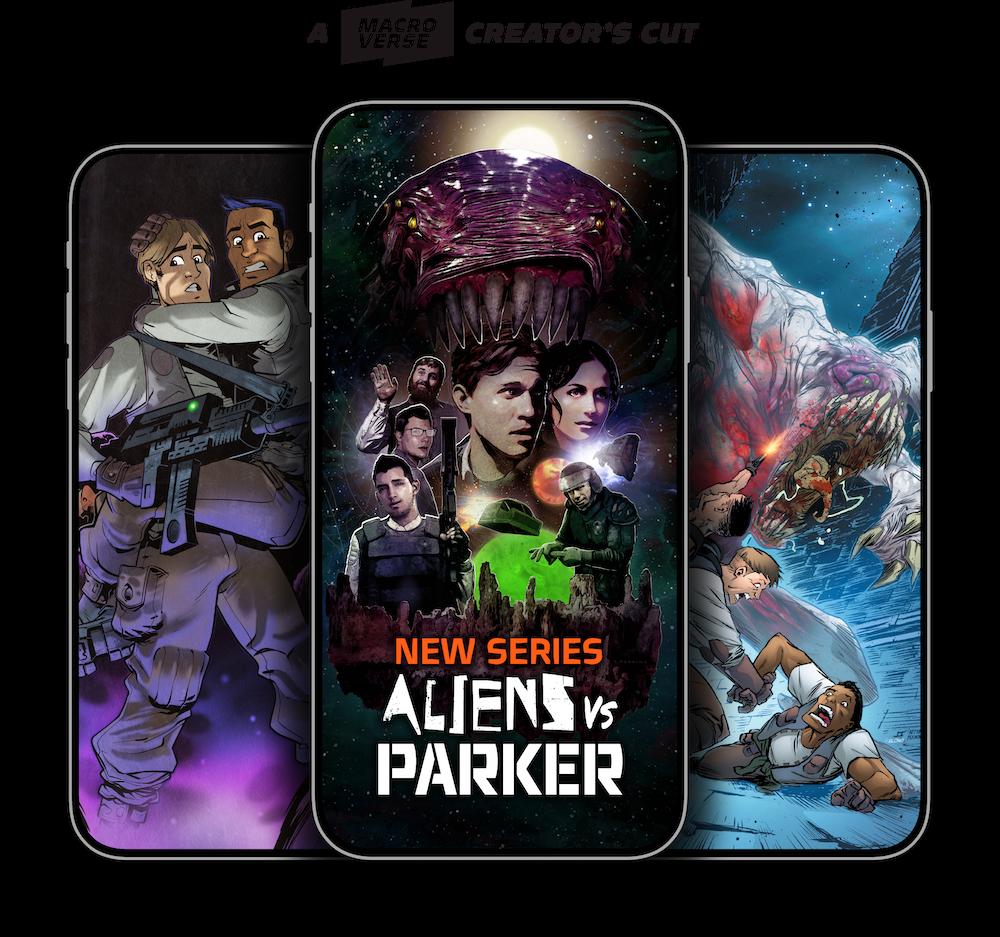 "Paul Scheer & Nick Giovannetti Launch Exclusive ALIENS VS PARKER ""Creator's Cut"" on Macroverse"