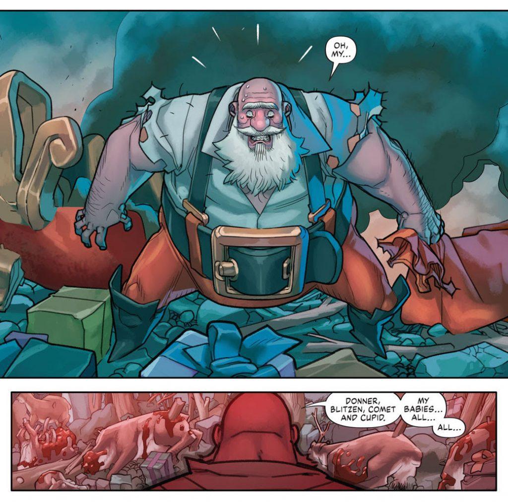 Ho Ho, Oh No, It's SLAY BELLS #1 – Bad Idea's Santa Spectacular Kicks Butt, Takes Names with Zeb Wells & David Lafuente