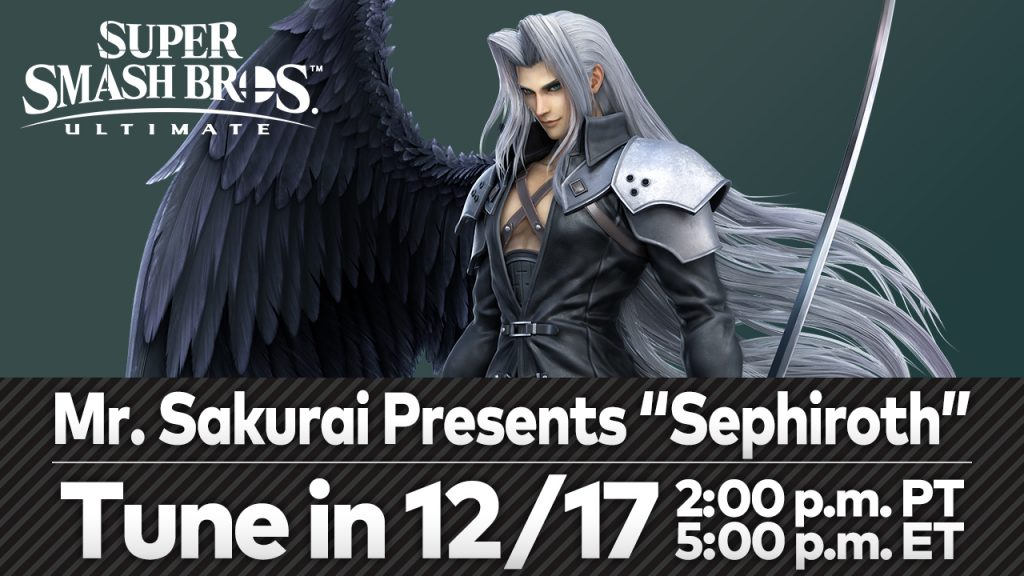 Sephiroth From the FINAL FANTASY Series Slices His Way Into Super Smash Bros. Ultimate as a Playable DLC Fighter