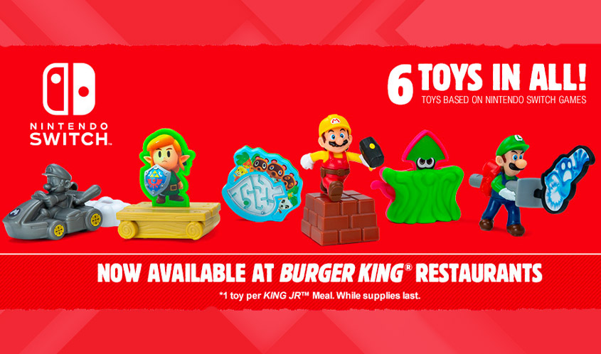 Nintendo Switch Sweepstakes Promotion and Nintendo Themed Toys Now Available at Burger King Restaurants Nationwide