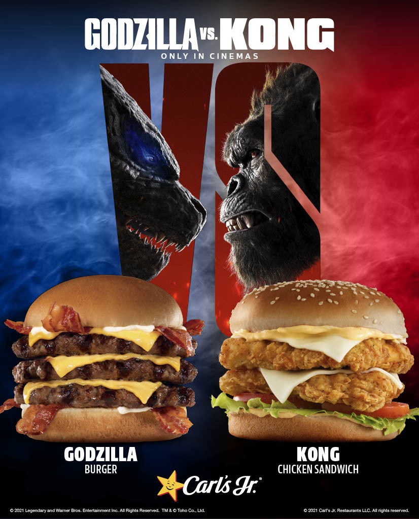 Carl's Jr. and Hardee's Introduce Godzilla vs. Kong-Inspired Limited Time Offers Globally