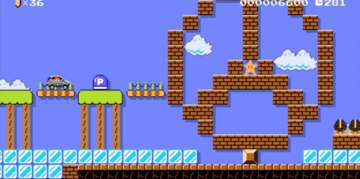 Super Mario Maker Revs Up with Free New Content Created by Mercedes-Benz
