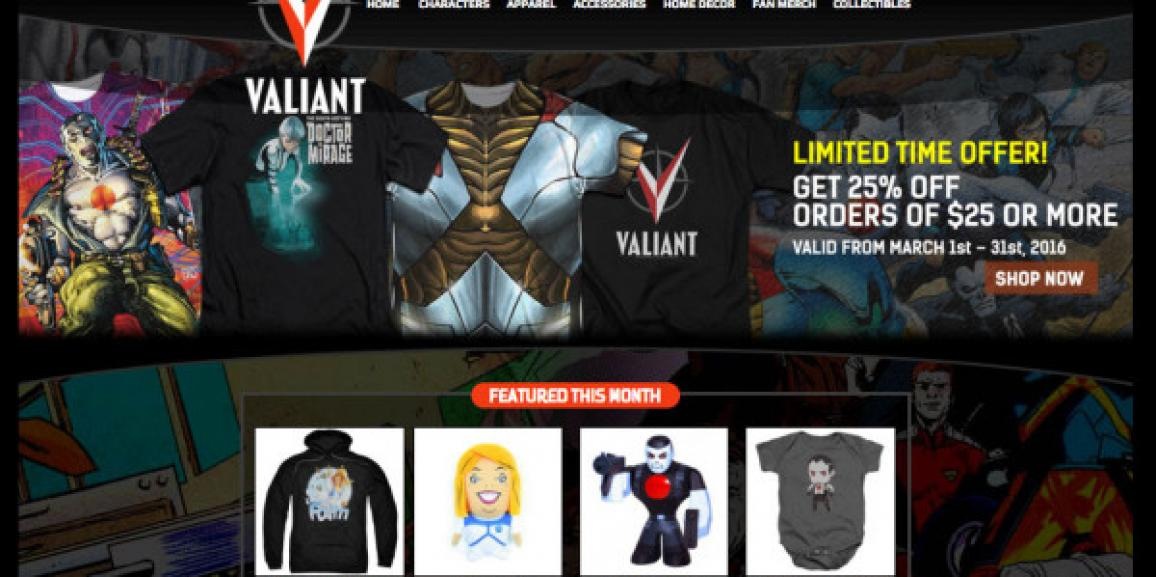 Valiant Entertainment Unveils the All-New ValiantStore.Com – Featuring Apparel, Collectibles, Home Décor, and Much More