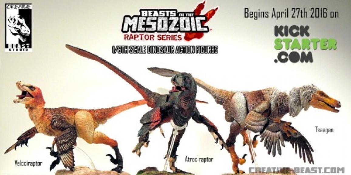 Let's Kickstart This! Beasts of the Mesozoic: Raptor Series Action Figures