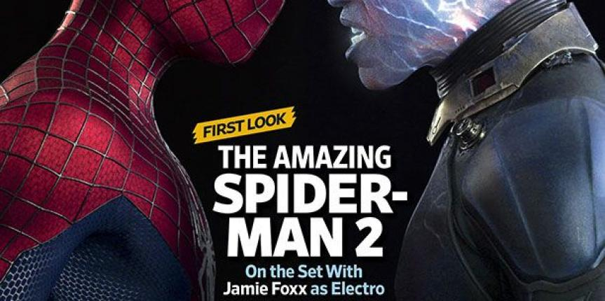 Entertainment Weekly Reveals Amazing Spider-Man 2 Cover With Jamie Foxx's Electro