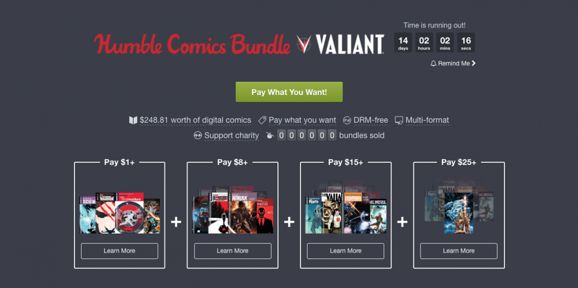 Valiant and Humble Bundle Present the VALIANT HEROES Bundle – Beginning Today