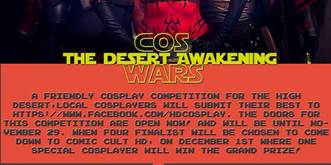 High Desert to Host Local Cosplay Contest, Prizes Include Tickets to See Star Wars: The Force Awakens