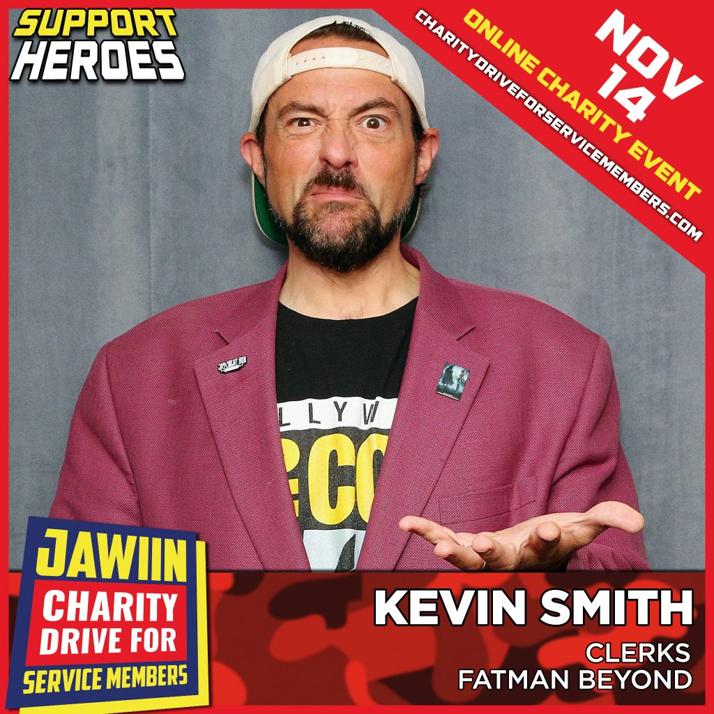 Director Kevin Smith and Friends Join Jawiin Charity Drive