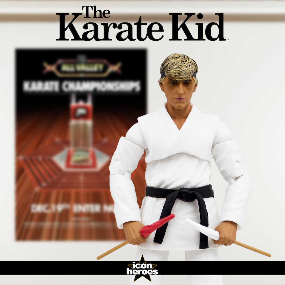 Exclusive Cobra Kai Dojo Johnny Lawrence Deluxe Action Figure Now Available from Icon Heroes