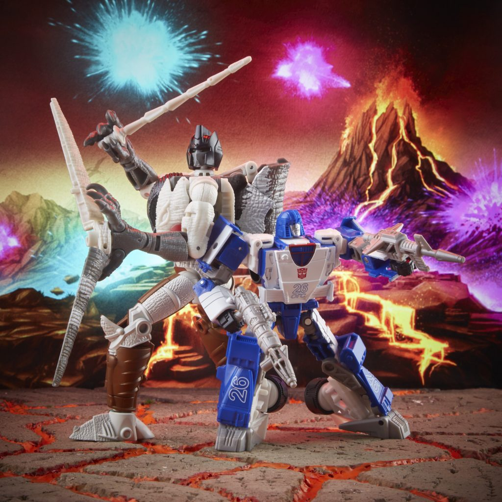 Transformers: Generations War for Cybertron: Kingdom Battle Across Time Collection Deluxe WFC-K40 Autobot Mirage and Maximal Grimlock Now for Preorder