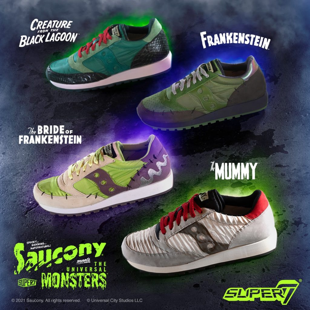 Super7 x Saucony Universal Monsters Shoes Coming Soon