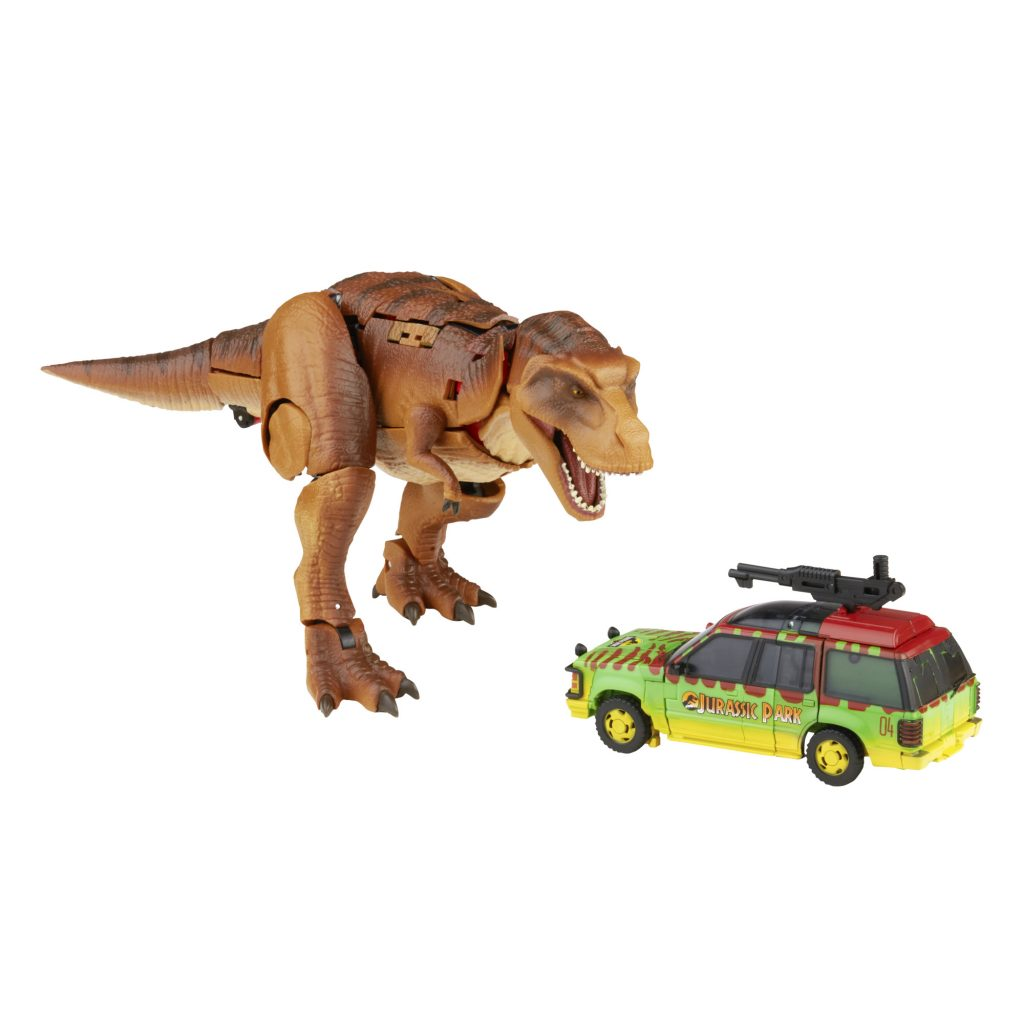 LIFE FINDS A WAY WITH NEW TRANSFORMERS X JURASSIC PARK COLLABORATION: INTRODUCING 'TYRANNOCON REX' AND 'AUTOBOT JP93'