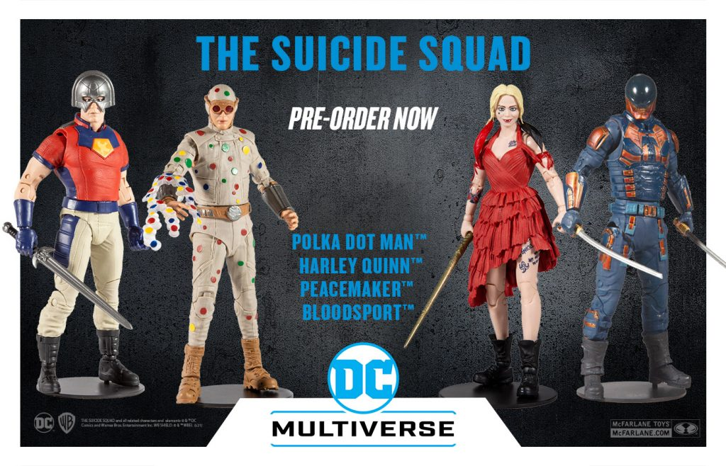 THE SUICIDE SQUAD MOVIE BUILD-A FIGURES ARE AVAILABLE NOW FOR PRE-ORDERS; COMING TO RETAILERS IN AUGUST