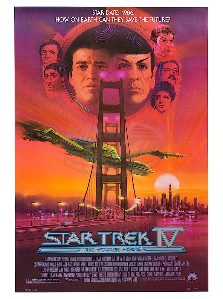 Star Trek IV: The Voyage Home Returns to Cinemas Nationwide on Aug. 19 & 22 for 35th Anniversary