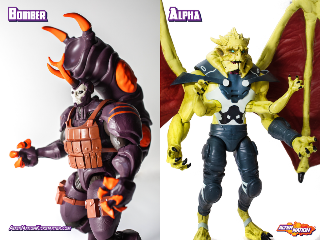 Panda Mony to Release Alter Nation Phase 2 Action Figures-Kickstarter is Now LIVE!