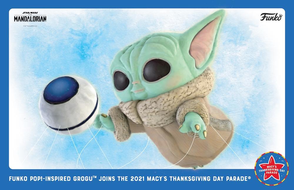 The Mandalorian's Grogu to Make Debut as Funko Pop!-Inspired Balloon at 2021 Macy's Thanksgiving Day Parade