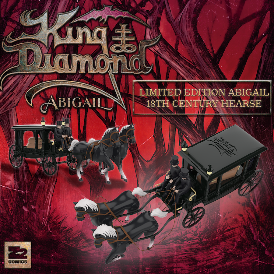 Z2 and King Diamond Announce Limited Edition Abigail 18th Century Hearse and Platinum Edition of Abigail Graphic Novel